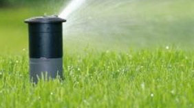 sprinkler head watering - landscape construction
